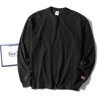 ロンハーマン(Ron Herman)のfruit of the loom ロンT 黒L 長袖Tシャツ(Tシャツ/カットソー(七分/長袖))