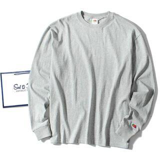 ロンハーマン(Ron Herman)のfruit of the loom ロンT グレーM 長袖Tシャツ(Tシャツ/カットソー(七分/長袖))