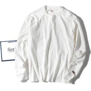 ロンハーマン(Ron Herman)のfruit of the loom ロンT 白L 長袖Tシャツ(Tシャツ/カットソー(七分/長袖))