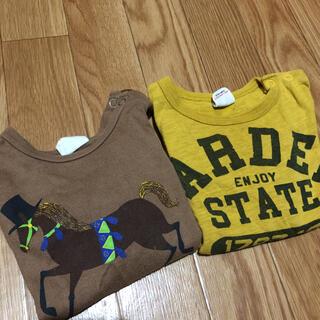 ブリーズ(BREEZE)のBREEZE 馬 ストライプ 英字プリント ロンT トップス 80(Tシャツ)