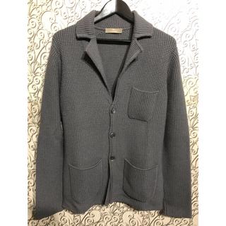 クルチアーニ(Cruciani)のCruciani クルチアーニ ニットジャケット  46 M グレー  イタリア(ニット/セーター)
