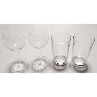 ティファニー(Tiffany & Co.)の大人気のブランド食器(ティファニー フローレット&スウィング)2セット使用品格安(グラス/カップ)