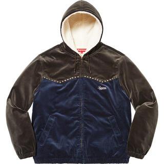 Supreme - 【Mサイズ】 Studded Velvet Hooded Work Jacket