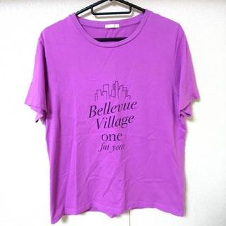 GU - GU ジーユー 半袖Tシャツ Mサイズ 半袖 Tシャツ トップス パープル