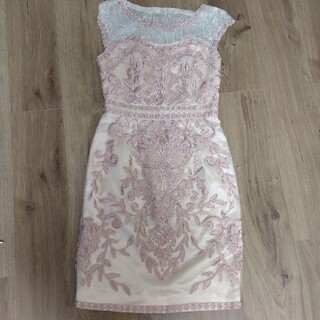 Lipsy - リプシー ドレス ワンピース ピンク サテン アイボリー
