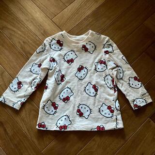 エイチアンドエム(H&M)のH&M  ハローキティ 総柄  長袖 カットソー  ロンT  74cm(Tシャツ)