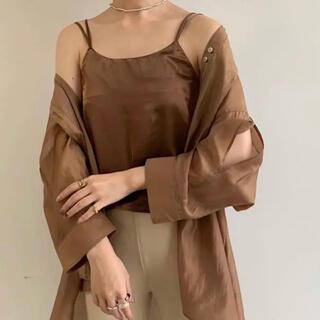 amiur  thick satin camisole   brown