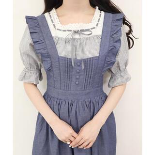 F i.n.t - フィント♡ショルダーフリルソフトデニムジャンパースカート
