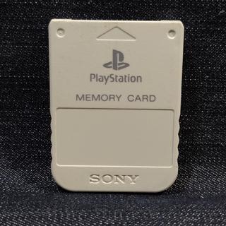 プレイステーション(PlayStation)のAX08 PS1メモリーカード1個 ソニー純正 即購入歓迎 動作確認初期化済(家庭用ゲーム機本体)