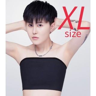SALE【XLサイズ 】ナベシャツ ベアトップ さらしタイプ ブラック コスプレ(コスプレ用インナー)