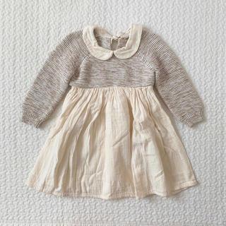 キャラメルベビー&チャイルド(Caramel baby&child )のliilu ニット ワンピース ドレス(ワンピース)