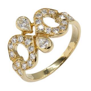 Cartier - カルティエ 10号 #51 K18YG 2C デザイン ダイヤ リング