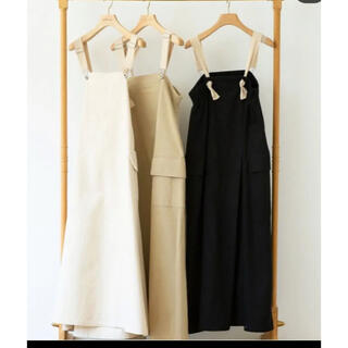 SeaRoomlynn - シールームリン backカシュクールサロペットスカート ベージュ Mサイズ 新品