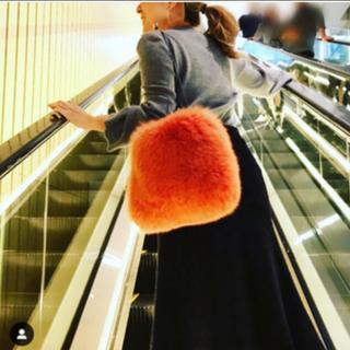 LUDLOW - ラドロー オレンジ!人気色 フォックスファーバッグ