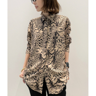 L'Appartement DEUXIEME CLASSE - Leopared 2Way Blouse レオパード ブラウス カシュクール