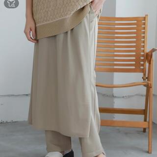 ニコアンド(niko and...)の【新品未使用】niko and… スカート付きパンツ(カジュアルパンツ)