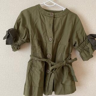 ブリーズ(BREEZE)の【キッズ】秋服 BREEZE 女の子 コート カーキ(ジャケット/上着)