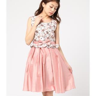 アクシーズファム(axes femme)の花柄ドレス(ミニドレス)