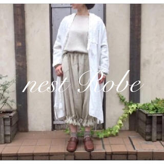 nest Robe - 2017 * nest Robe * リネンフリンジドロワーズパンツ アイボリー