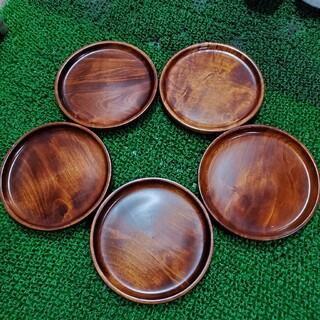 木製 お皿 5枚セット