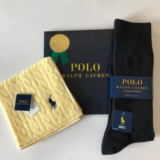 ポロラルフローレン(POLO RALPH LAUREN)の新品未使用タグ付き ラルフローレン 靴下&ハンカチ2点セット (ハンカチ/ポケットチーフ)