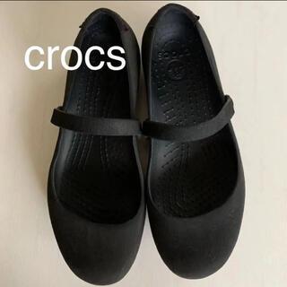 crocs - crocs クロックス ストラップ フラット シューズ 靴 W 6  23cm