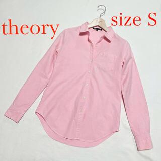 theory - セオリー theory 長袖 コットン ブラウス Sサイズ