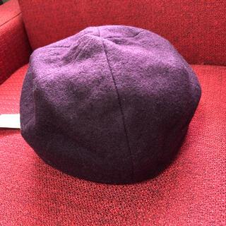 ユニクロ(UNIQLO)の新品 ユニクロ ベレー帽 ワイン(ハンチング/ベレー帽)