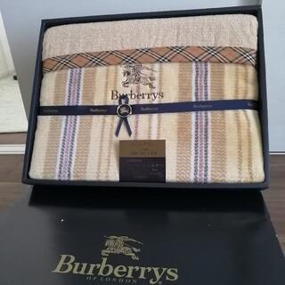 BURBERRY - 未使用★BURBERRY バーバリー 毛布 パイルブラン