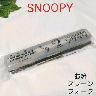 スヌーピー(SNOOPY)の訳あり スヌーピー お箸 & スプーン & フォーク カラトリー トリオセット(弁当用品)
