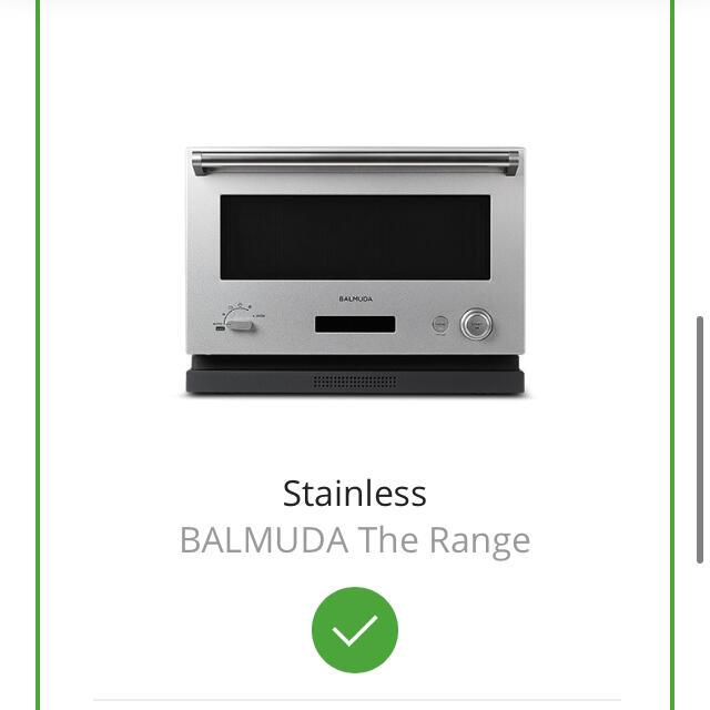 BALMUDA(バルミューダ)の新品 BALMUDA The Range バルミューダザレンジ ステンレス  スマホ/家電/カメラの調理家電(電子レンジ)の商品写真