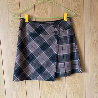 イーストボーイ(EASTBOY)のEAST BOY チェックラップスカート(ミニスカート)