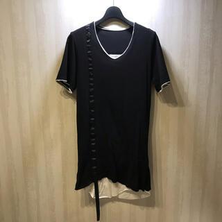 ルグランブルー(LGB)のCATORCE(カトルセ) バックジップレイヤードカットソー ロング丈 ロイフラ(Tシャツ/カットソー(半袖/袖なし))