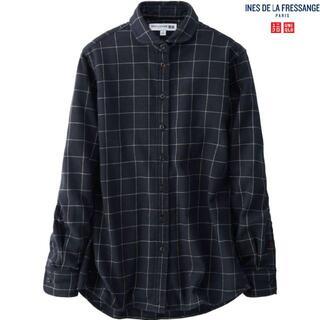 UNIQLO - 土日sale★イネス新品フランネルチェックシャツLネイビー