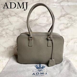 A.D.M.J. - 【良品】ADMJ ミニトートバッグ アクセソワ レザー エンブレム グレー