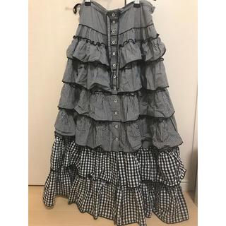 カネコイサオ(KANEKO ISAO)の美品☆ワンダフルワールド ギンガムチェック スカート(ロングスカート)