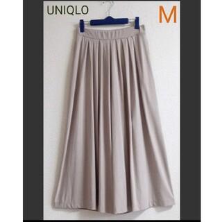 UNIQLO - 【美品】UNIQLO スカーチョ ジャージースカンツ ベージュ