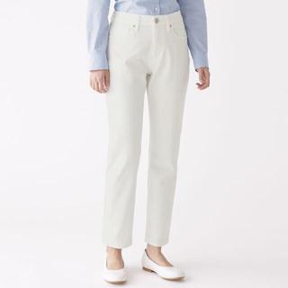 ムジルシリョウヒン(MUJI (無印良品))の無印良品 ストレッチ テーパード デニム パンツ 24 ホワイト(デニム/ジーンズ)
