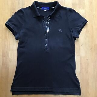 バーバリーブルーレーベル(BURBERRY BLUE LABEL)のバーバリー  ブルーレーベル ポロシャツ 黒(ポロシャツ)