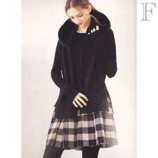 FOXEY - 美品▫️FOXEY  F༚❁.*ブラック系♢フォックス❁✧カシミヤ.*ショ-ル
