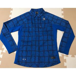 オークリー(Oakley)のオークリー  スカルoakleyシャツトップス青レディースsサイズおすすめゴルフ(ウエア)