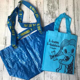 ハレイワ(HALEIWA)のショッピングバッグ 2点セット(ハッピーハレイワ・IKEA)エコバッグ(ショップ袋)
