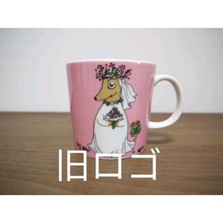 アラビア(ARABIA)のアラビア 旧ロゴ ムーミン マグカップ ソースユール 新品       (グラス/カップ)