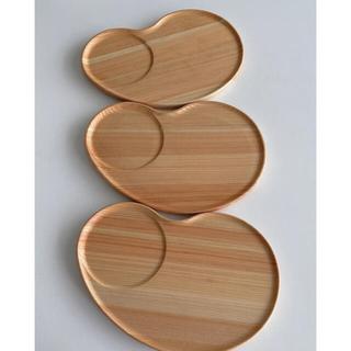プレート 皿 木製 ヒノキ お家カフェ 天然木 3セット ビーンズ
