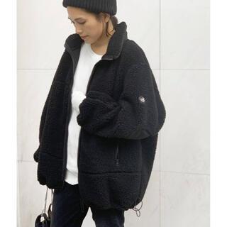 L'Appartement DEUXIEME CLASSE - ☆AP STUDIO☆YETI フリースオーバージャケット☆黒34☆新品タグ付☆