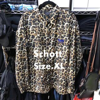schott - 定価15400円 Schott ショット レオパード コーチシャツ XL