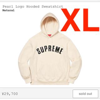 Supreme - Pearl Logo Hooded Sweatshirt Natural XL