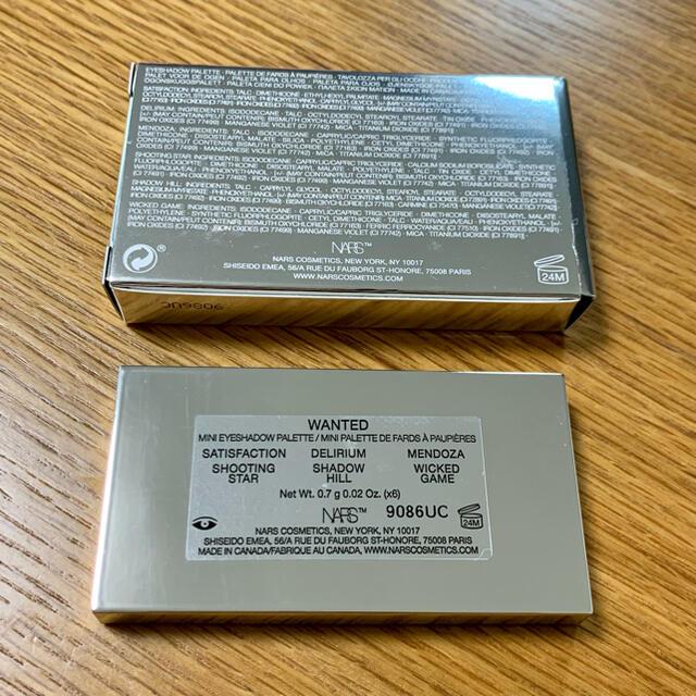 NARS(ナーズ)の新品未使用 NARS ナーズイスト ウォンテッド ミニアイシャドーパレット コスメ/美容のベースメイク/化粧品(アイシャドウ)の商品写真