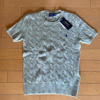 ポロラルフローレン(POLO RALPH LAUREN)の新品タグつき ラルフローレン ウール半袖セーター XS(ニット/セーター)