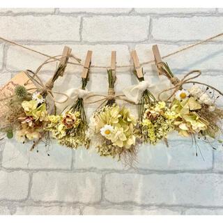 ドライフラワー スワッグ ガーランド❁412薔薇 スモークツリー 紫陽花 花束(ドライフラワー)